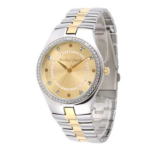 75234-6E-10: Men's Personalized Diamond Accent Two Tone Watch
