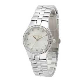 75234-6E-2A: Ladies Personalized Diamond Accent Silver Tone Watch