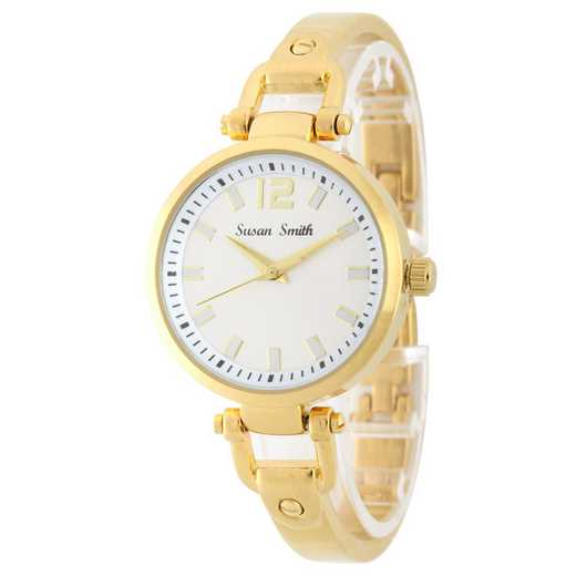 MHK005G: Ladies Personalized Gold Tone Watch