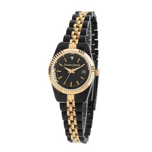 PW00002: Ladies Personalized Black and Gold Watch