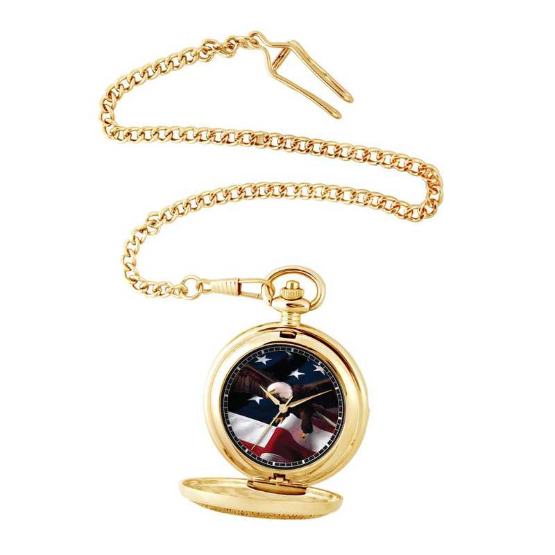 PW00070: Pocket Watch USA Flag