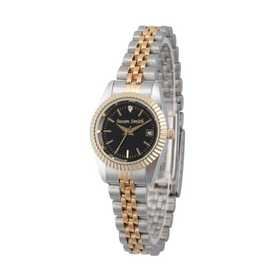 PW00177: Ladies Personalized Diamond Accent Two Tone Watch