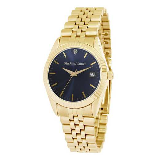 PW00229: Mens Gold Blue Face Watch