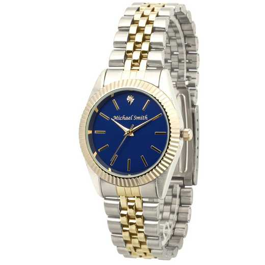PW00244: Men's Personalized Two Tone Blue Face Watch