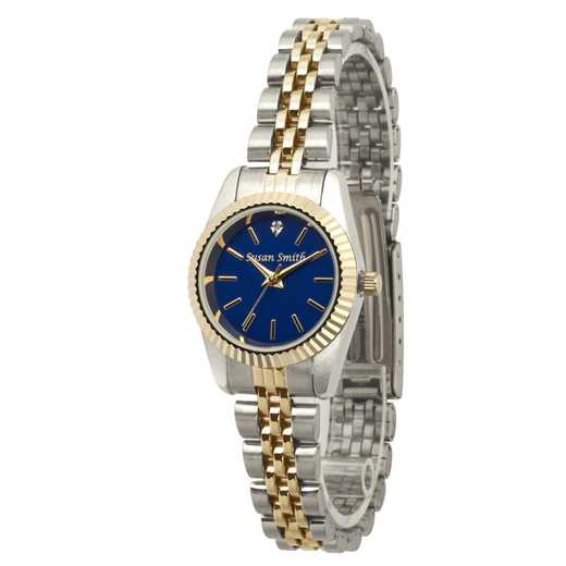PW00246: Ladies Personalized Two Tone Blue Face Watch