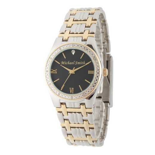 W000796: Men's Personalized Diamond Accent Gold Tone Watch