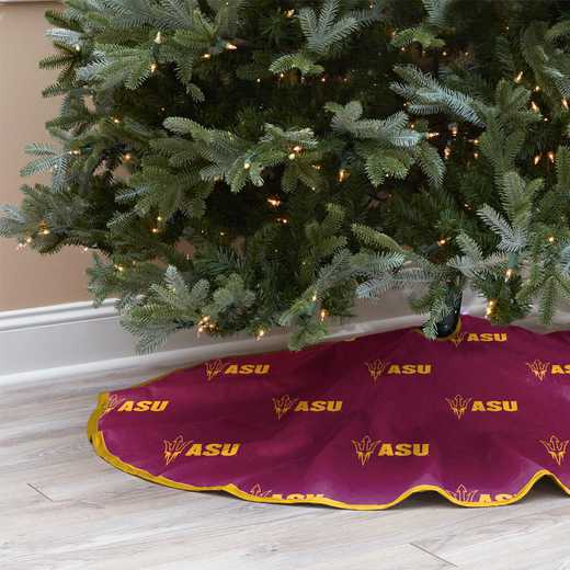 NCAACT-ASU-12:  Christmas Tree Skirt