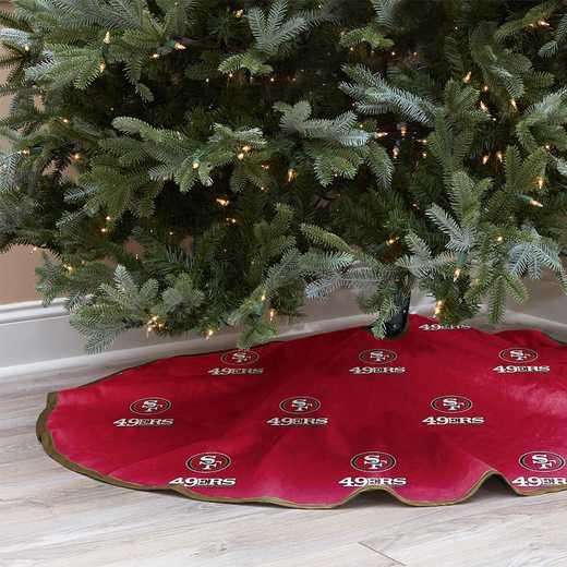 NFLCT-49ERS-12:  Christmas Tree Skirt