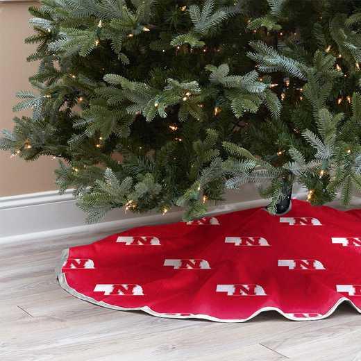NCAACT-NEB-12:  Christmas Tree Skirt