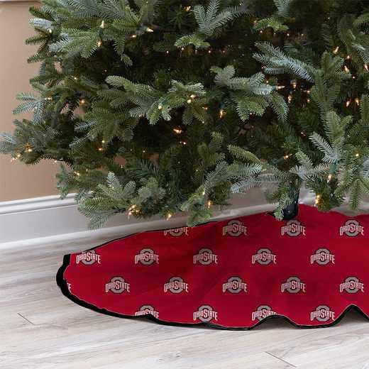 NCAACT-OSU-12:  Christmas Tree Skirt