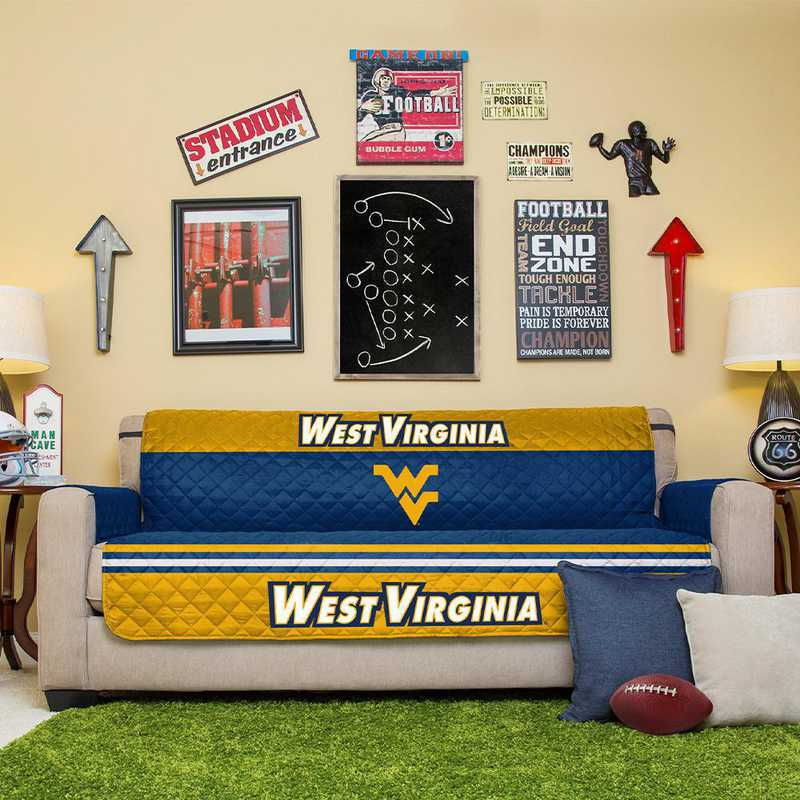 Ncaa Furniture Protector West Virginia University 75 X 110
