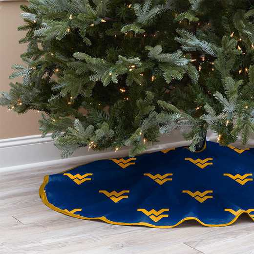 NCAACT-WVU-12:  Christmas Tree Skirt