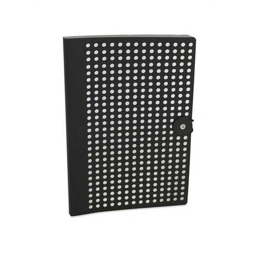 BLKB501 : Full Circle Notebook Black & Silver foil lasercut B5 Notebook