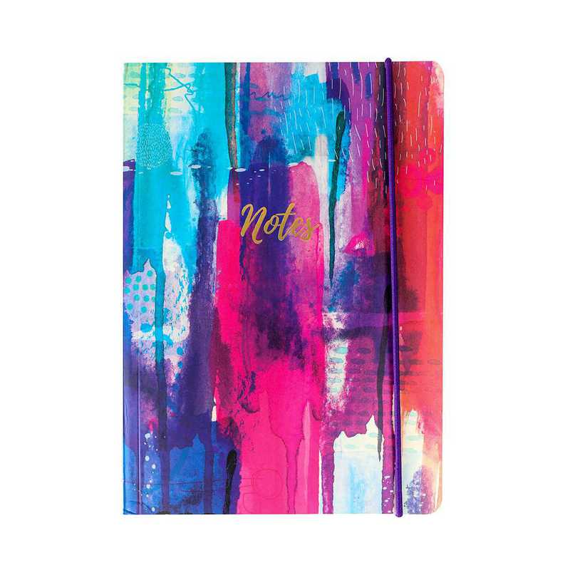 GTPNB21: Portico Notebooks  A5 FLEXI Inky splash