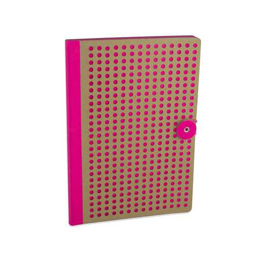 PNKB501 : Full Circle Notebook Pink & Kraft lasercut B5 Notebook