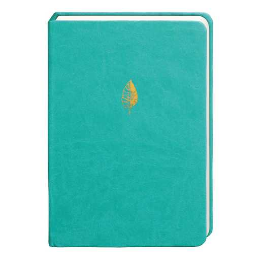 SKYN01: Sky + Miller Teal Leaf Notebook