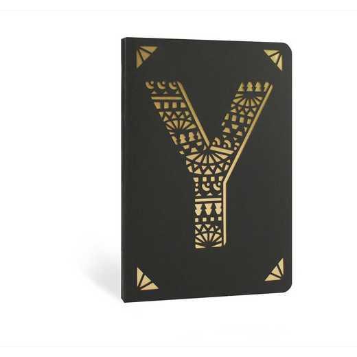 Y1F: Portico/Monogram Notebook Y1F Y FOIL A6 NOTEBOOK