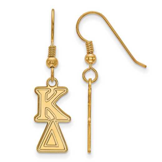 GP004KD: Strlng Slvr with Gold Plating LogoArt Kappa Delta Dangle Sml Erring