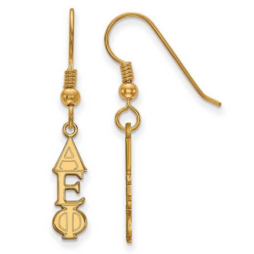 GP026AEP: Strlng Slvr with Gold Plating LogoArt Alpha Epsilon Phi Sml Dangle Erring