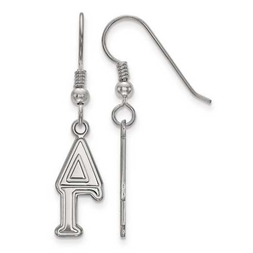 SS004DG: Strlng Slvr LogoArt Delta Gamma Dangle Small Earrings