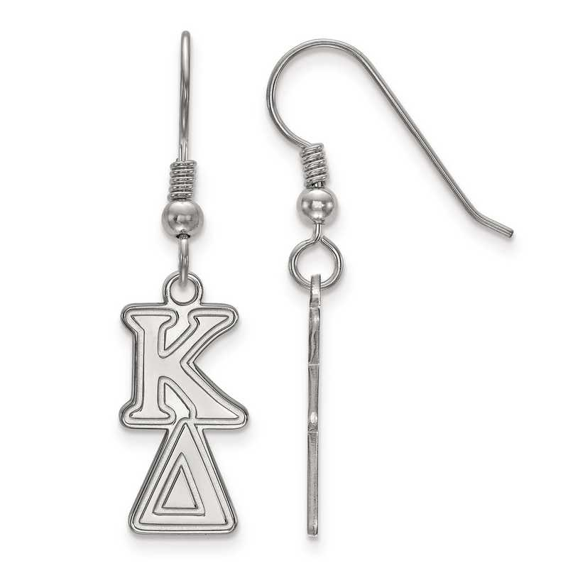 SS004KD: Strlng Slvr LogoArt Kappa Delta Dangle Small Earrings