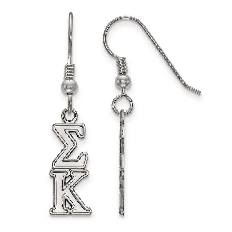 SS004SKP: Strlng Slvr LogoArt Sigma Kappa Dangle Small Earrings