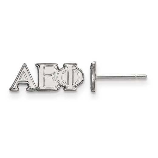 SS005AEP: Strlng Slvr LogoArt Alpha Epsilon Phi XS Post Earrings