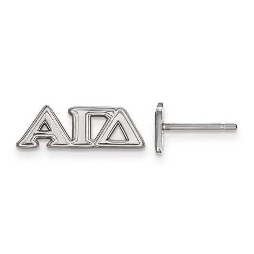 SS005AGD: Strlng Slvr LogoArt Alpha Gamma Delta XS Post Earrings