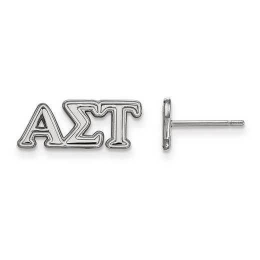 SS005ALS: Strlng Slvr LogoArt Alpha Sigma Tau XS Post Earrings