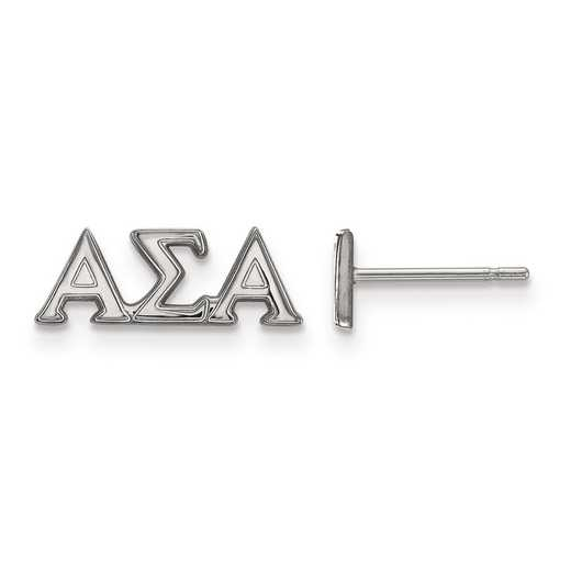 SS005ASI: Strlng Slvr LogoArt Alpha Sigma Alpha XS Post Earrings