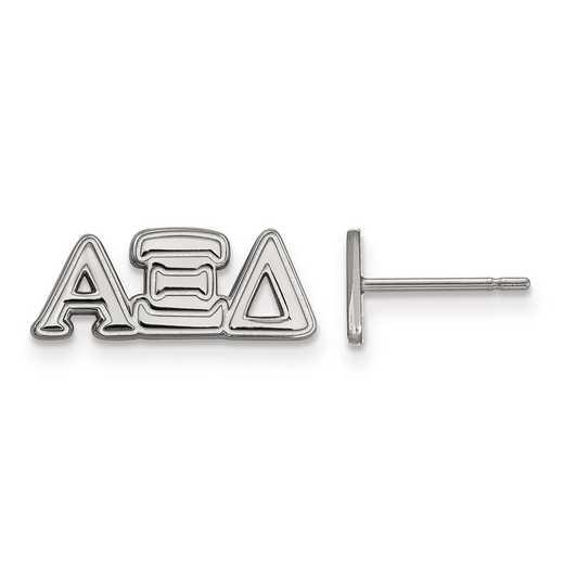 SS005AXD: Strlng Slvr LogoArt Alpha Xi Delta XS Post Earrings