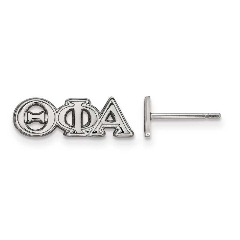 SS005TPA: Strlng Slvr LogoArt Theta Phi Alpha XS Post Earrings