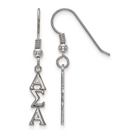 SS026ASI: Strlng Slvr LogoArt Alpha Sigma Alpha Small Dangle Earrings