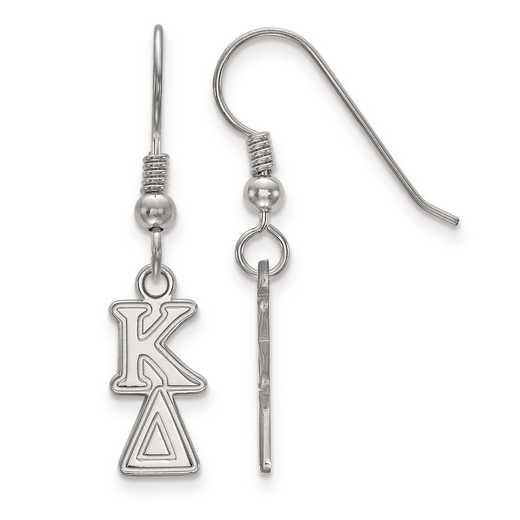 SS026KD: Strlng Slvr LogoArt Kappa Delta XS Dangle Earrings