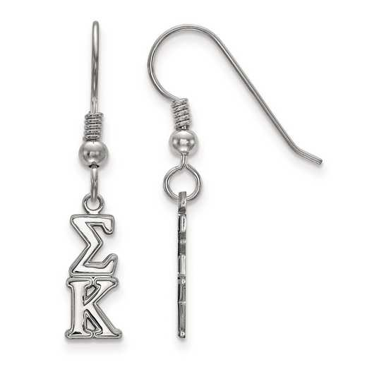 SS026SKP: Strlng Slvr LogoArt Sigma Kappa XS Dangle Earrings