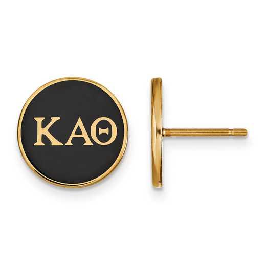 GP031KAT: Strlng Slvr w/GP LogoArt Kappa Alpha Theta Enmld Post Erring