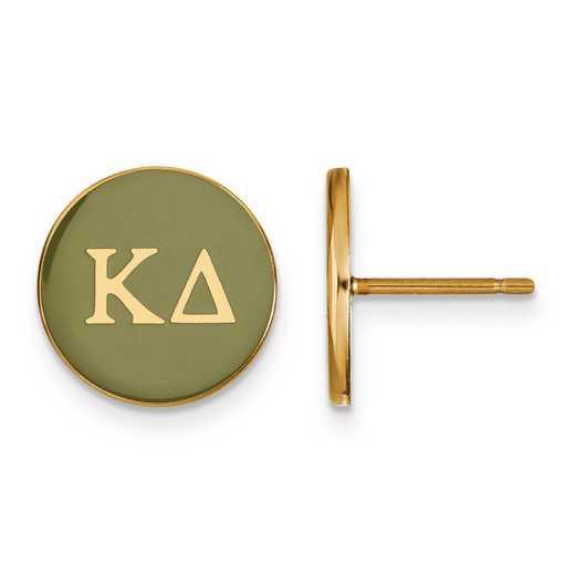 GP031KD: Strlng Slvr w/GP LogoArt Kappa Delta Enmld Post Erring