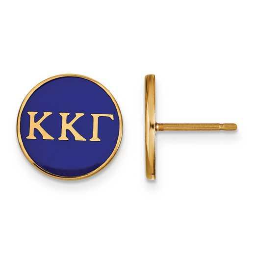 GP031KKG: Strlng Slvr w/GP LogoArt Kappa Kappa Gamma Enmld Post Erring
