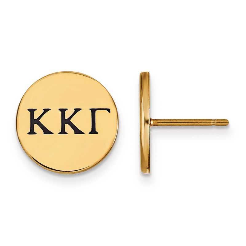 GP033KKG: Strlng Slvr w/GP LogoArt Kappa Kappa Gamma Enmld Post Erring
