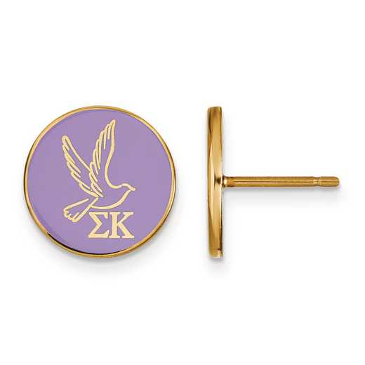 GP046SKP: Strlng Slvr w/GP LogoArt Sigma Kappa Enamld Pst Erring