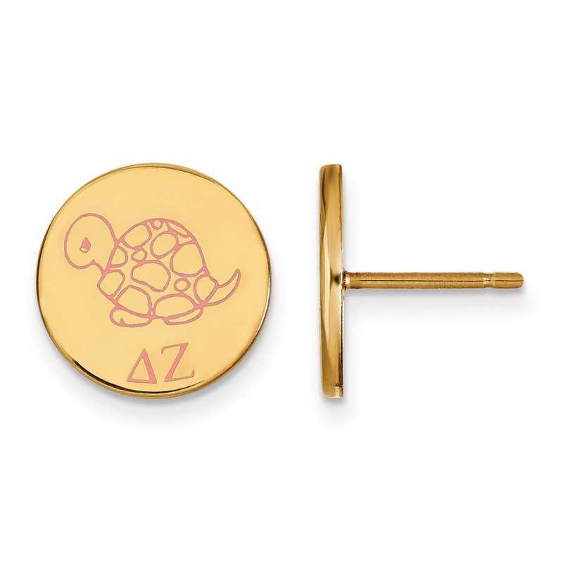 GP047DZ: Strlng Slvr w/GP LogoArt Delta Zeta Enamld Pst Erring
