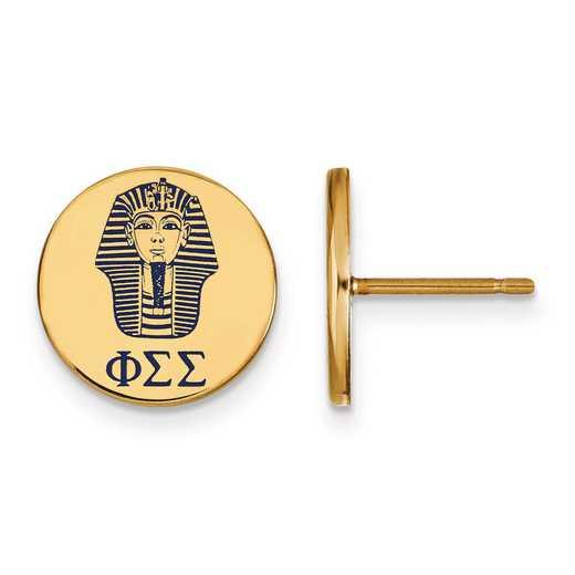 GP047PSS: Strlng Slvr w/GP LogoArt Phi Sigma Sigma Enamld Pst Erring