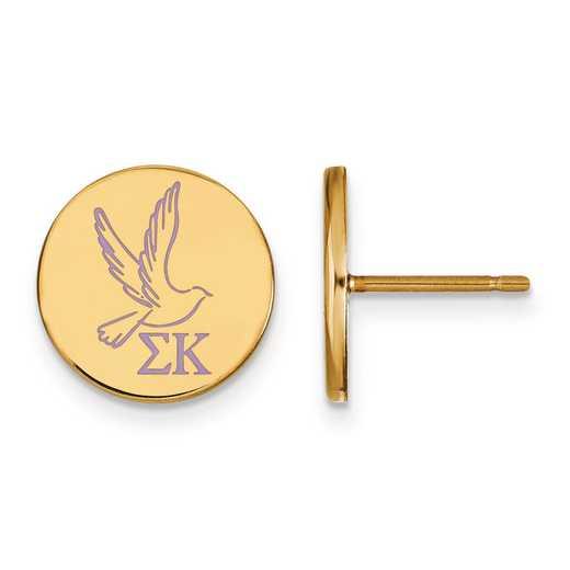 GP047SKP: Strlng Slvr w/GP LogoArt Sigma Kappa Enamld Pst Erring
