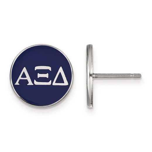 SS031AXD: Strlng Slvr LogoArt Alpha Xi Delta Enamld Pst Erring