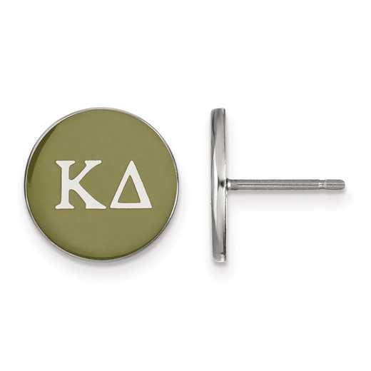 SS031KD: Strlng Slvr LogoArt Kappa Delta Enamld Pst Erring