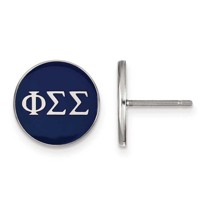 SS031PSS: Strlng Slvr LogoArt Phi Sigma Sigma Enamld Pst Erring