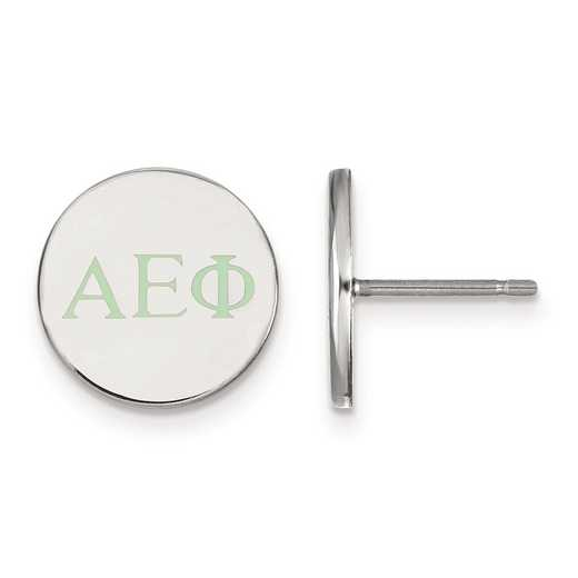 SS032AEP: Strlng Slvr LogoArt Alpha Epsilon Phi Enameled Post Earrings
