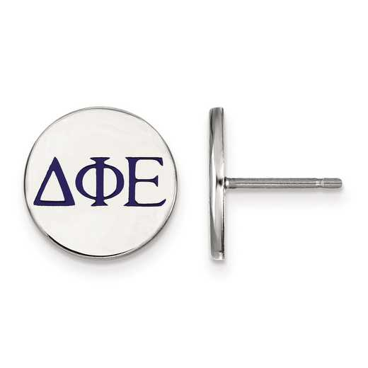 SS032DPH: Strlng Slvr LogoArt Delta Phi Epsilon Enameled Post Earrings