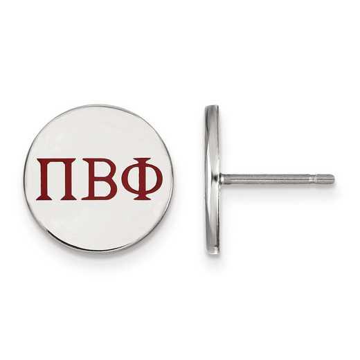 SS032PBP: Strlng Slvr LogoArt Pi Beta Phi Enameled Post Earrings