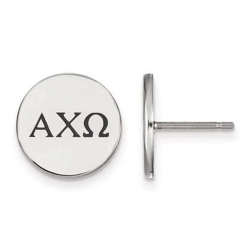 SS033ACO: Strlng Slvr LogoArt Alpha Chi Omega Enameled Post Earrings